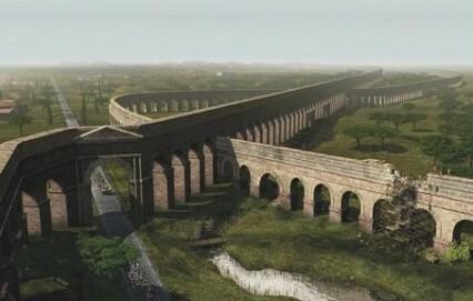 Römische Aquädukte an der Via Appia