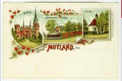 Gruss aus MOYLAND, undatiert (um 1900), Postkarte, Lith. Anst. V. Ad. Rehmann, Crefeld