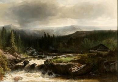 J.W. Bilders, norwegische Landschaft, 1862, Rijksdienst voor het cultureel erfgoed