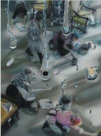 Ohne Titel, 2011, 160 x 120 cm, Öl auf Leinwand, Privatbesitz