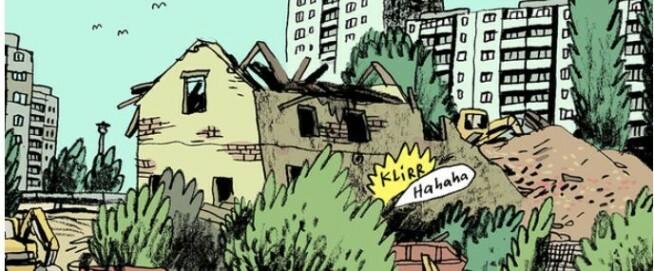 Comic zur Ausstellungsankündigung