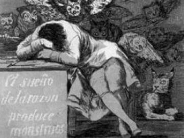 Francisco de Goya, El sueno de la razón produce monstruos