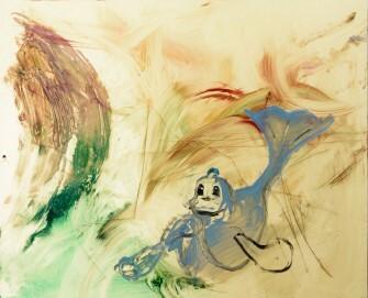 Reena Spauling, Dewgong, 2016, Öl auf Dibond, 81 x 100 cm