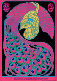 Victor Moscoso: Avalon Ballroom / Peacock Ball, 1967; Sammlung Hieber / Theising, Hannover