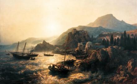 Andreas Achenbach: Kalabrische Küste – Scilla, 1861, Öl/Leinwand, Privatsammlung
