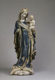 Madonna auf der Mondsichel aus Kloster Eberbach, um 1415, Terrakotta, 102 x 40 x 23 cm, Musée du Louvre, Paris, Inv.-Nr. RF 1343