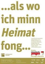 """Ausstellungsplakat """"… als wo ich minn Heimat fong …"""""""