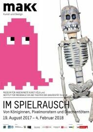 """Ausstellungsplakat """"Im Spielrausch"""""""