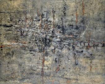 Karl Fred Dahmen, Terrestrische Intention II, 1958, Sammlung Ströher, Darmstadt