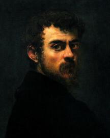 Jacopo Tintoretto, Selbstporträt, um 1547, Öl auf Leinwand, 45 x 38 cm, Philadelphia Museum of Art
