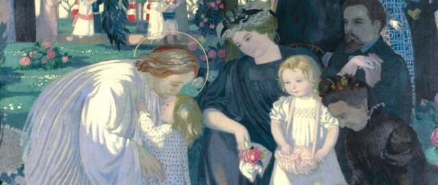"""Maurice Denis, """"Lasset die Kindlein zu mir kommen"""" (Ausschnitt), um 1900, Öl auf Leinwand, Clemens Sels Museum Neuss"""