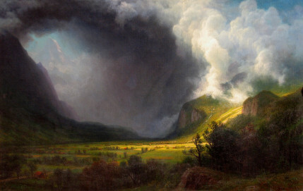 Albert Bierstadt Aufziehendes Gewitter im Tal, 1891, Öl auf Leinwand NordseeMuseum Husum