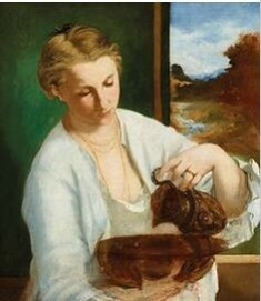 Edouard Manet, Frau mit Krug (Suzanne Leenhoff, später Manet), 1858-60, Ordrupgaard, Copenhagen