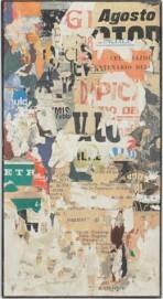 Reinhold Koehler, Thorax 9 1958 VI, 1958, Plakatdécollage auf Leinwand, 102 x 54 cm