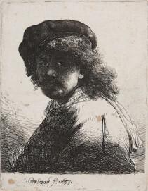 Rembrandt van Rijn, 1606-1669, Selbstportrait, 1633, Radierung, Düsseldorf, Museum Kunstpalast, Sammlung Kunstakademie Düsseldorf (NRW)