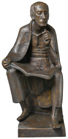 Gerhard Marcks, Albertus Magnus (Modell II), 1955 / 1970, Bronze, h 85 cm