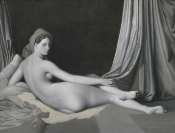 Jean Auguste Dominique Ingres, Odalisque in Grisaille, um 1824-1834 Öl auf Leinwand, 83,2 × 109,2 cm, The Metropolitan Museum of Art, Catharine Lorillard Wolfe Collection, Wolfe Fund, 1938
