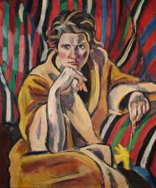 Helmuth Macke Porträt Grete Hagemann, (Frau Hoff), 1920, Öl auf Leinwand, 76,5 x 65 cm, Privatbesitz