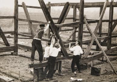 Aufbau in der Museumsbaugruppe Eifel/Eifelvorland