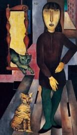Jankel Adler, Angelika, 1923 Öl auf Leinwand, 106 x 60 cm Von der Heydt-Museum Wuppertal