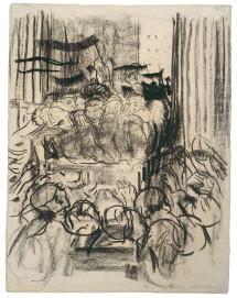 Käthe Kollwitz, Revolution 1918, 1928, Kohle und schwarze Kreide