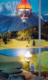 Thomas Wrede, Gebirgslandschaft im Spiegelschrank, 2000, 110 x 74 cm, Aus der Serie: Domestic Landscapes