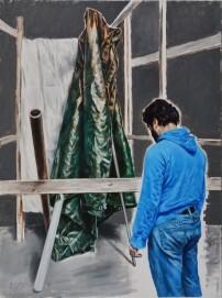 Masoud Sadedin, Am Rand, 200x150cm, 2016.