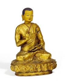 Tibet, Lama mit Vitarka Mudra