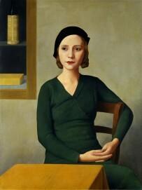 Donna al caffè, 1931 - Frau im Café, Öl auf Leinwand, 80 x 60 cm, Fondazione Musei Civici di Venezia, Galleria Internazionale  d'Arte Moderna di Ca' Pesaro