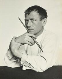 Hugo Erfurth: Otto Dix mit Pinsel, 1929, Ölpigmentdruck