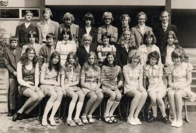Abschlussfoto Hauptschule 1972