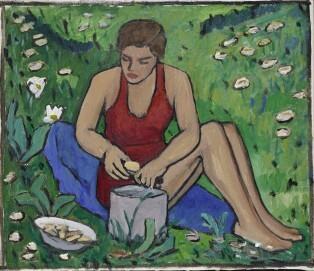 Gabriele Münter: Fräulein Ellen im Gras, 1934; Gabriele Münter- und Johannes Eichner-Stiftung, München