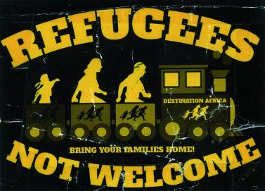 Sticker gegen Geflüchtete, Deutschland 2015