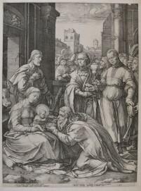 Hendrick Goltzius: Die Anbetung der Könige, um 1594