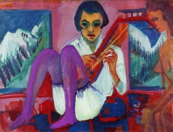 Ernst Ludwig Kirchner: Mandolinistin, 1921, Öl auf Leinwand, 90 x 120 cm