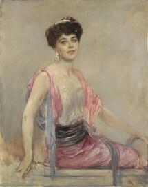 Friedrich August von Kaulbach: Geraldine Farrar, 1906, Öl auf Leinwand, 116,5 x 92,5 cm, Landesmuseum Hannover