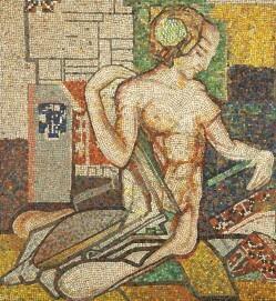 Johan Thorn Prikker: Lautenspielerin, 1914, Mosaik