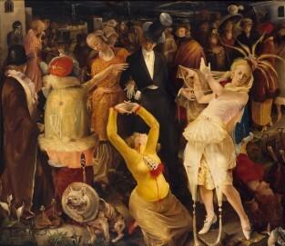 Abschied von Düsseldorf, 1924, Öl auf Leinwand, 160 × 185 cm, Kunstpalast, Düsseldorf