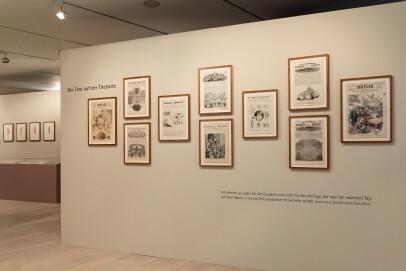Blick in die Ausstellungsinstallation