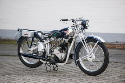"""Motorrad Ardie """"Silberfuchs"""" Typ ZL 30, Rahmen aus Duraluminium, Glas. Leder, Hersteller: Ardie GmbH (Arno Dietrich), Nürnberg, 1930"""
