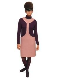 Nicole de Lamargé in einem Kleid der Cosmocorps-Kollektion von Pierre Cardin, 1967, Wolle