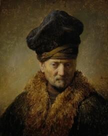 Rembrandt (Harmensz van Rijn), Alter Mann mit Pelzmütze, 1630