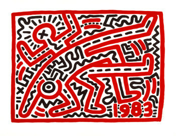 Keith Haring Untitled, 1983, Keith Haring artwork