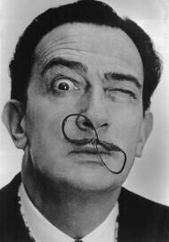 Der spanische Maler Salvador Dalí, 1954