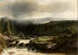 Johannes Warnardus Bilders (Utrecht 1811-1890 Oosterbeek). Beseelte Landschaft